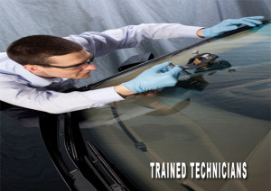 Technician windshield repair